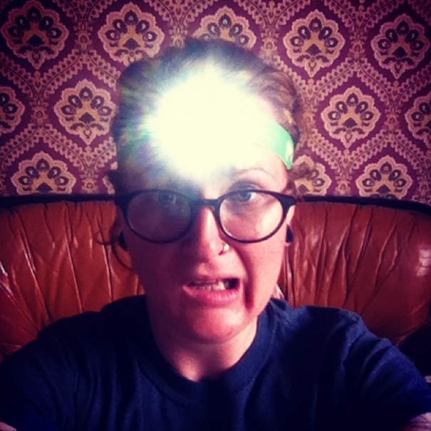 Hot damn, head torch.